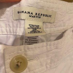 Banana Republic Linen wide leg pants like new